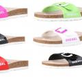 Diesel - markowe klapki damskie - 70% taniej - 6 kolorów - wyprzedaż
