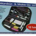 Zestaw do makijażu manikir 18 części w gustownym etui