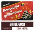 Grill Pack - węgiel z podpałką 2w1 - Wyprzedaż/Hurt
