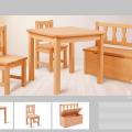 Drewniane mebelki dla dzieci