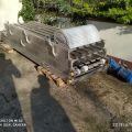 Przenośnik taśmowy nierdzewny 304 modularny około 14m dł. INOX, habasi