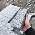 Kostka granitowa z Ukrainy Szara - CIĘTA płomieniowana