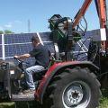 Myjka wysięgnikowa do paneli słonecznych zawieszana na TUZ