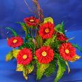 Unikalne stroiki kompozycje ze sztucznych kwiatów, design, jakość
