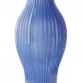 Wazon wysoki prążkowany niebieski 30 cm ceramika