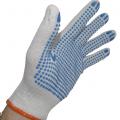 Rękawice robocze nakrapiane kropkowane dziane PVC