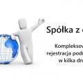 Rejestracja spółki z o.o. oraz sprzedaż gotowych podmiotów
