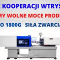 Wtryskarka 1800 gram / 450 ton - Wolne moce