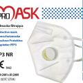 Maseczki ochronne FFP3 z zaworkiem polska produkcja Pro-Mask