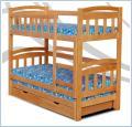 Łóżka piętrowe, elegackie z drewna