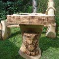 Rzezba, płaskorzezba drewno, kamień - współpraca